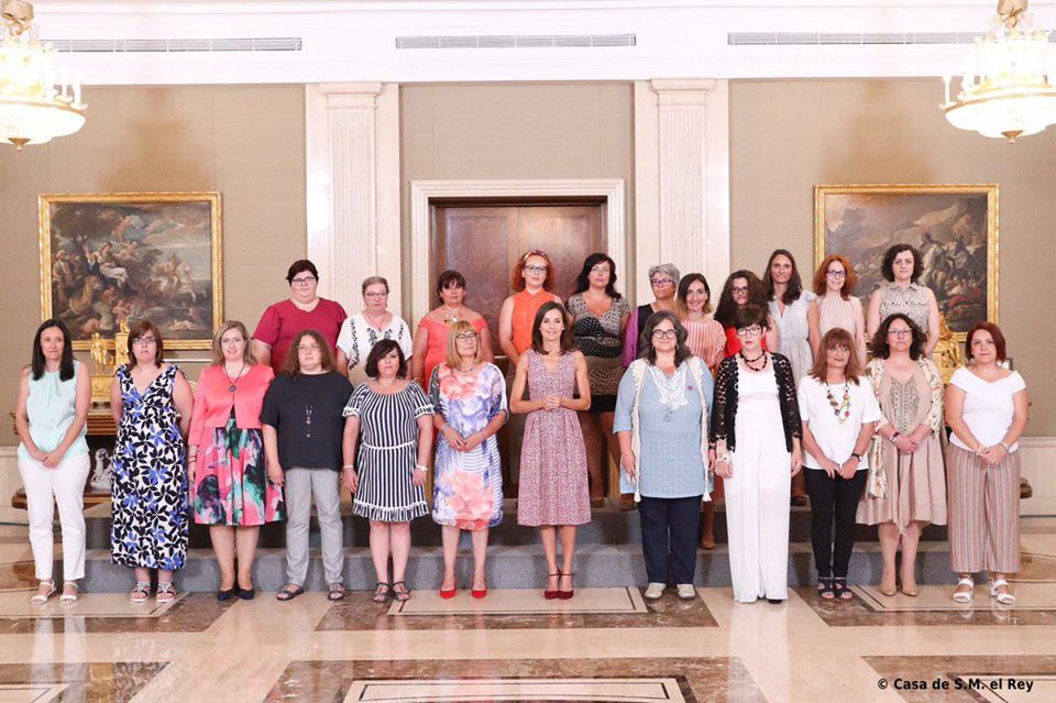 Reunión de la Red Estatal de Mujeres con la reina Letizia